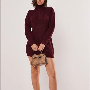 NWT Burgundy Roll Neck Sweater Dress